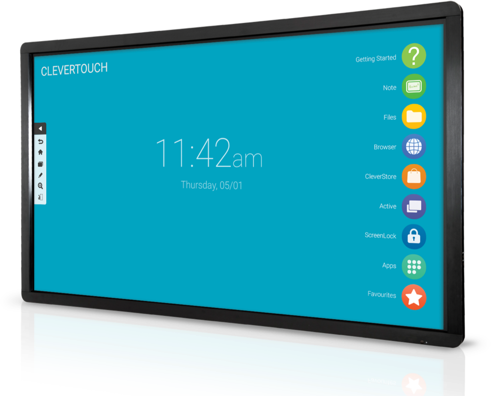 Clevertouch LUX user interface